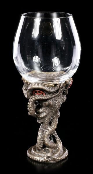 Oktopus Steampunk Weinglas - Toast of the Tentacle