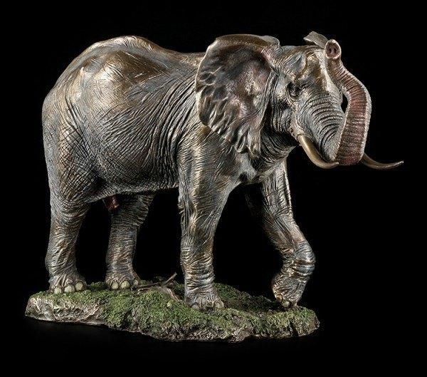 Large Bull Elephant Figurine