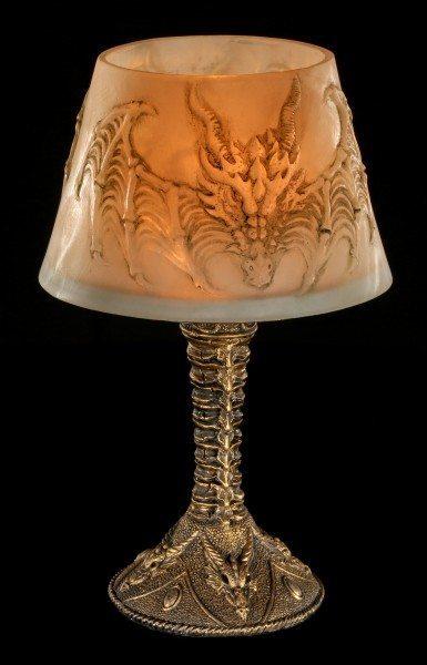 Teelichthalter mit Drachen Lampenschirm
