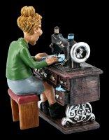 Funny Jobs Figur - Schneiderin an Nähmaschine