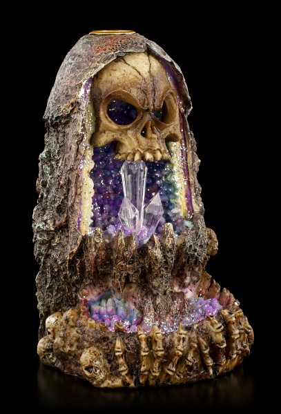 Backflow Incense Cone Holder - Skull with LED