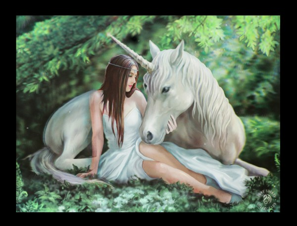 3D Picture with Unicorn - Pure Heart