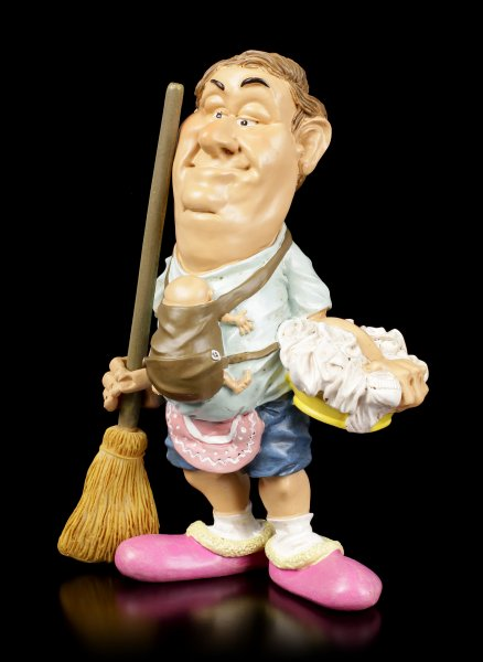 Funny Family Figurine - Superdad with Brush
