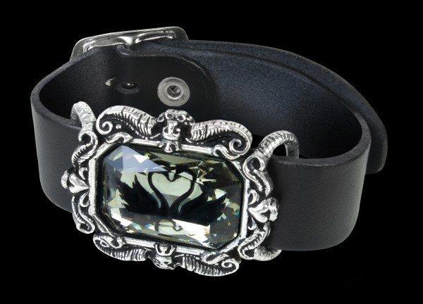 Alchemy Leder-Armband - Black Swan