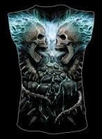 Ärmelloses Shirt Totenkopf - Flaming Spine