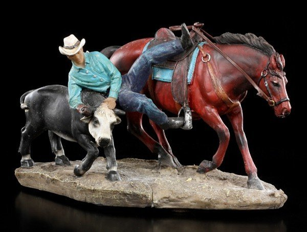 Cowboy Figur Rodeo - Cowboy fängt Kalb