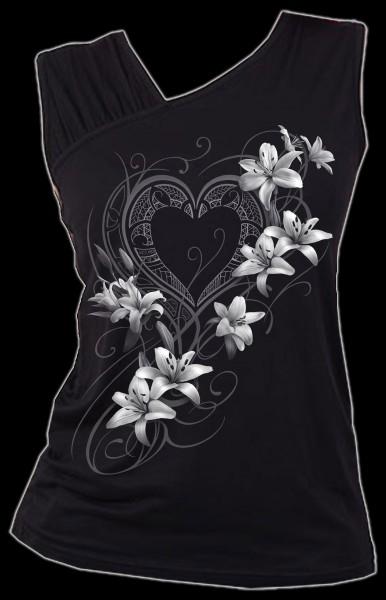 Damen Top mit Herz und Blumen - Pure Of Heart
