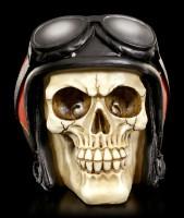Totenkopf mit Helm - Stuntman Hell Fire