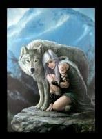 Große Leinwand mit Wolf - Protector
