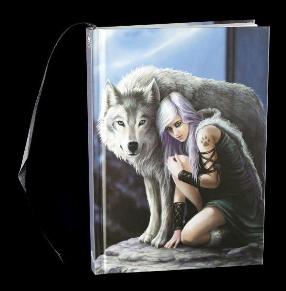 Hardcover Notizbuch mit Wolf - Protector