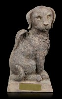 Animal Urn - Sitting Dog-Angel