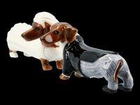 Salt & Pepper Shaker - Doxies Bride and Groom