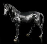 Große Schwarze Pferde Figur