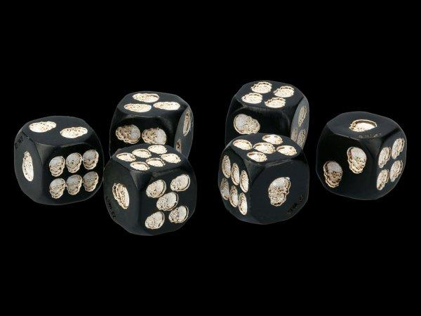 Skull Dices - Set of 6 - black