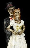 Skelett Figuren - Brautpaare 3er Set