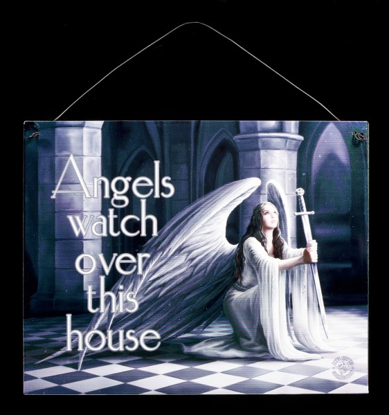 The Blessing Metall Schild mit Engel - Angels watch over this house