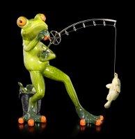 Funny Frog Figurine - Fishing