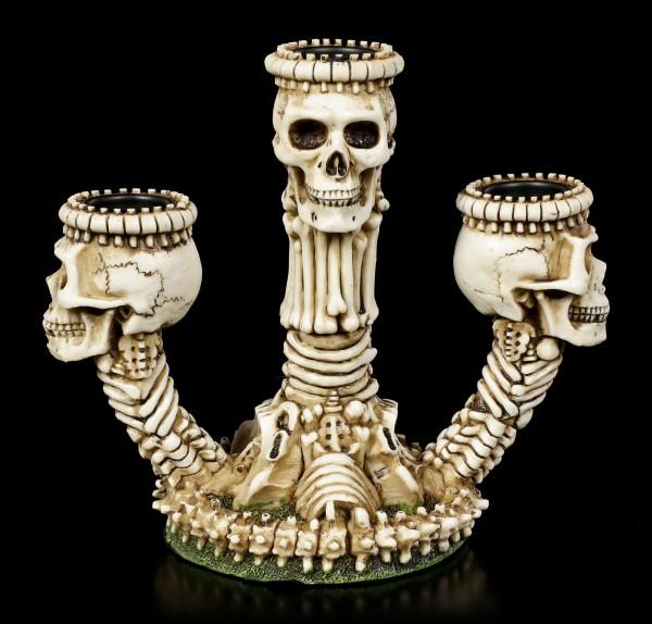 Skelett Kerzenhalter - Beinhaus