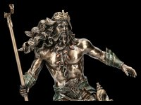 Poseidon Figurine rises from the Waves