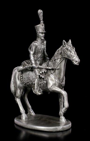 Zinn Soldaten Figur auf Pferd mit Gewehr