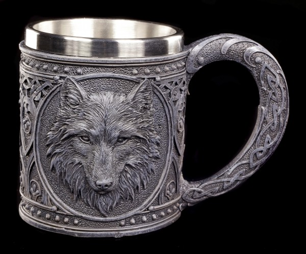 Gothic Tankard - Night Wolf
