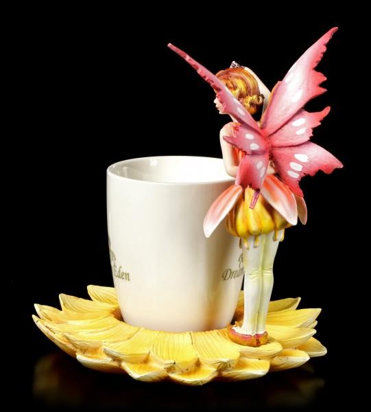 Fairy Figurine with Mug - Red Fairy Rara