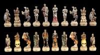 Schachfiguren Set - Skelett Ritter