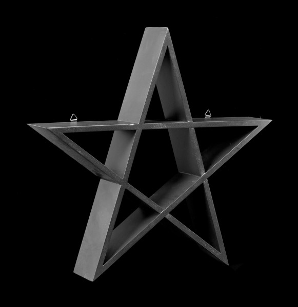Wall Shelf - Black Pentagram