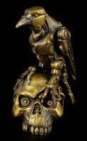 Steampunk Figurine - Raven on Skull