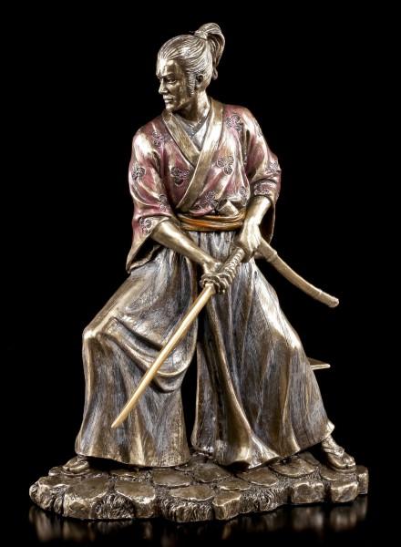 Samurai Krieger Figur Kyota zieht Schwert