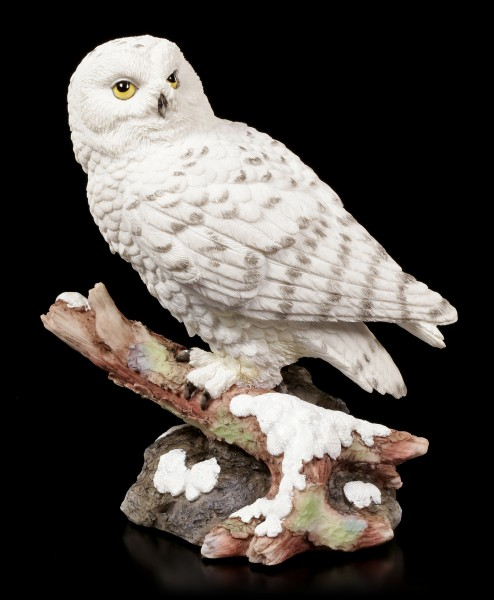 Snow Figurine Owl sitting on Branch