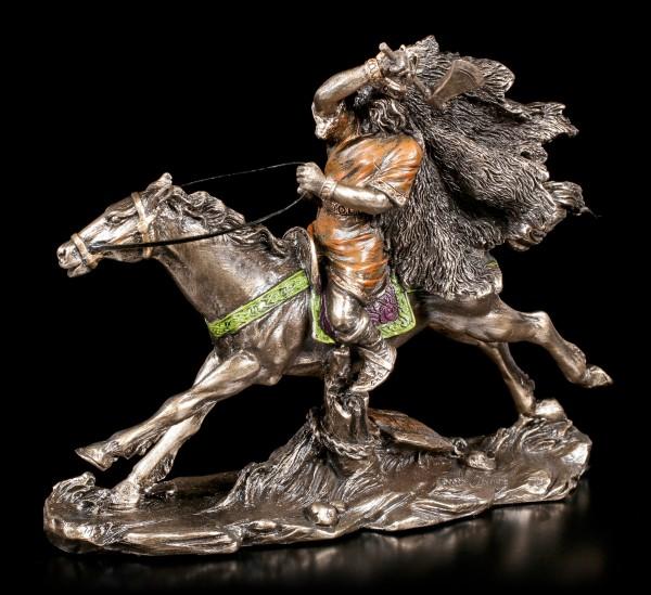Wikinger Figur klein auf Pferd mit Axt