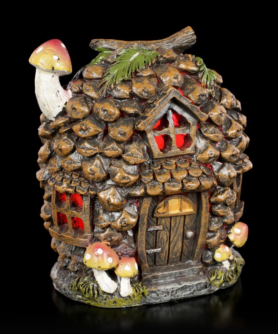 Elfen Haus mit LED - Pine Cone