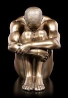 Male Nude Figurine - Sitting on the Ground