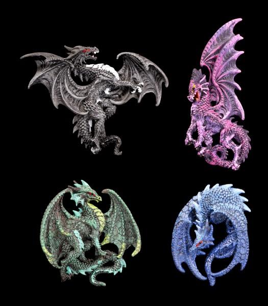 Kühlschrank Magnete - Drachen Quartett - 4er Set