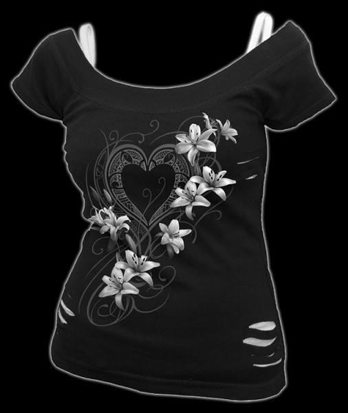 2in1 Damen Shirt - Fantasy Herz - Pure of Heart