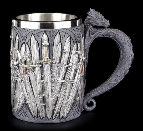 Knight Tankard - Swords and Dragon