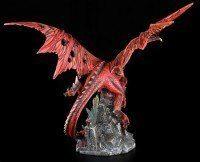 Large Dragon Figurine - Red Fury