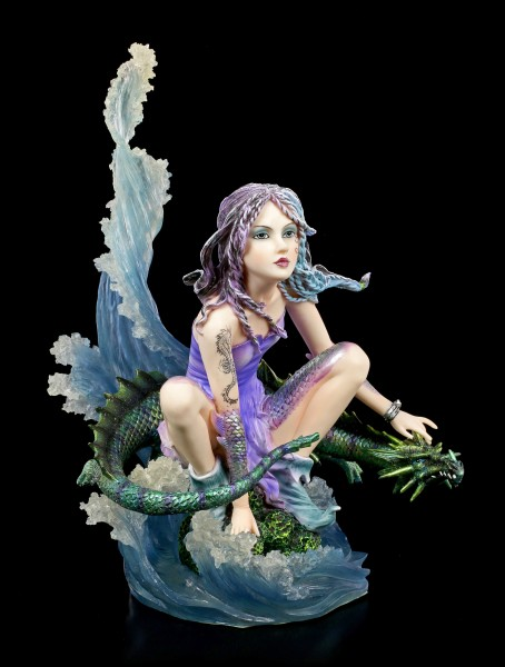 Water Fairy Figurine with Dragon