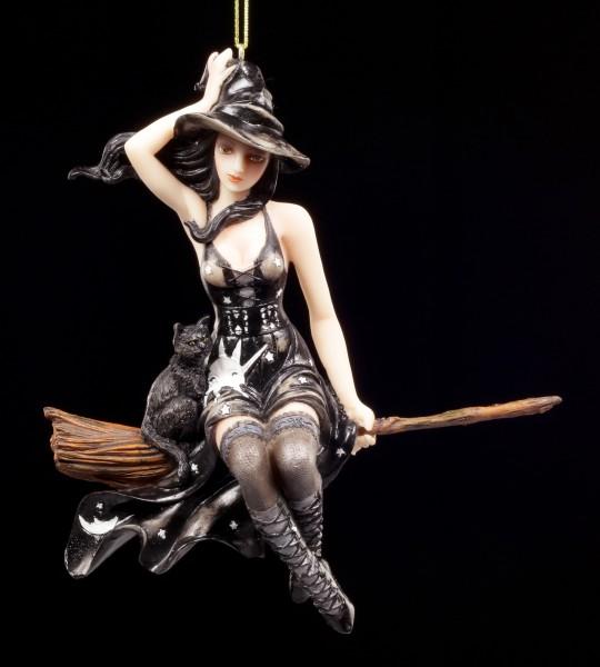 Hexen Figur Leila mit Katze
