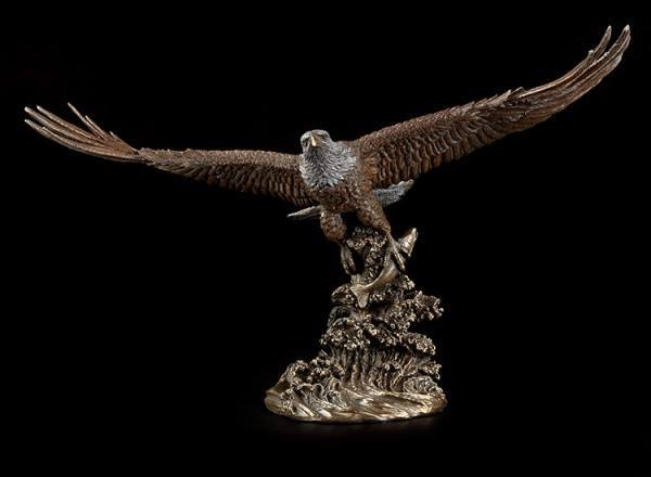 Large Eagle Figurine with Fish