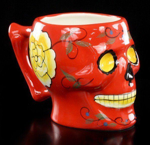 Mexikanische Totenkopf Tasse - rot