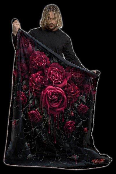 Fleecedecke Gothic - Blood Rose