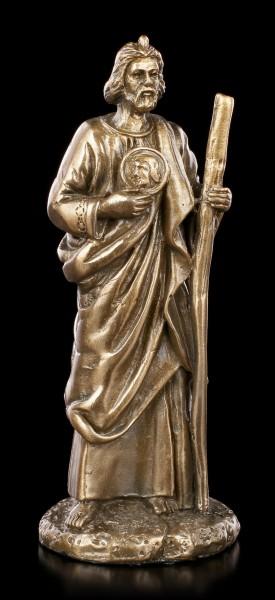 Kleine Heiliger Judas Thaddäus Figur - bronziert