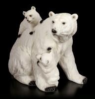 Eisbären Figuren - Mutter mit zwei Jungen