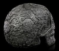 Black Flower Skull