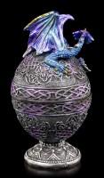 Faberge Ei Schatulle - Mit blauem Drachen