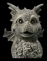 Garden Figurine - Dragon with Bouquet