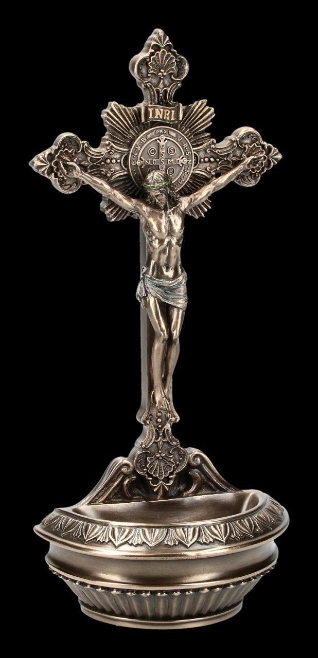 Crucifix - Jesus Holy Water Font