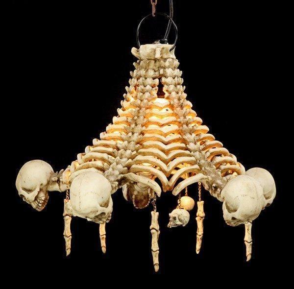 Totenkopf Deckenlampe - Skelette